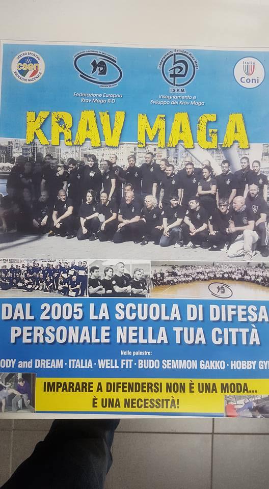 Lunedì 26 e mercoledì 28 settembre dalle 19.00 alle 20.30 prove dimostrative gratuite di  Autodifesa Krav Maga